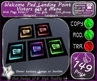 * Welcome Pad * Landing Point V 2 * Menu *