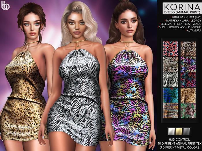 Bens Boutique - Korina Dress(Animal Print) - Hud Control