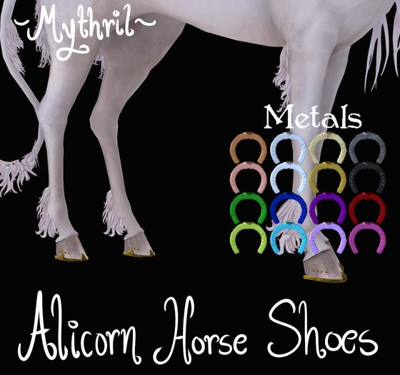 ~Mythril~ Alicorn Horse Shoes