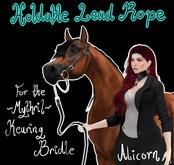 ~Mythril~ Keuring Halter Addon: Held Lead Ropes (Alicorn)