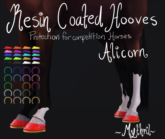 ~Mythril~ Resin Coated Hooves (Alicorn)