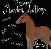~Mythril~ Teeglepet: Random Actions: Foal