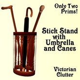 Hall Stand with Canes & Umbrella [victorian clutter]