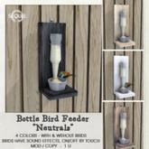 Sequel - Bottle Bird Feeder - Neutrals