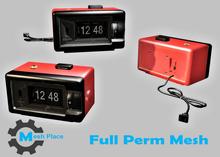 Mesh Place - Retro Alarm Clock - Full Perm Mesh