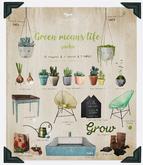 {vespertine} green means life -tiled sink - 13 RARE