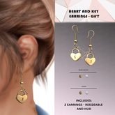 Candy Crunchers - Heart and Key earring w/HUD - Gift