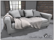 Chenille Sofa (Family Menu) - Interactive Family Sofa