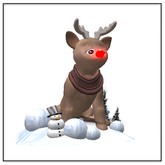 Belle Belle Rudolf Snowball Thrower Giver