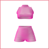 [Petite Pastels] Aimee - Sleeveless set - Hot Pink