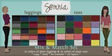 .: Somnia :. Mix & Match Plain Set {Tees & Leggings}