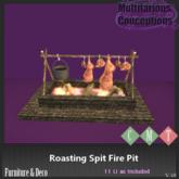 [MC] Roasting Spit Fire Pit  (wear to unpack)