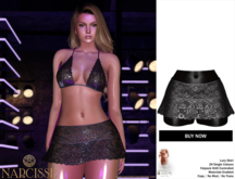-Narcisse- ADD Lucy Lace Skirt & Panties - Black