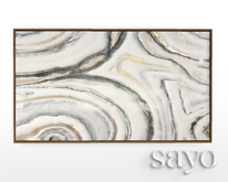SAYO - Mondrian Geode Epoxy Artwork