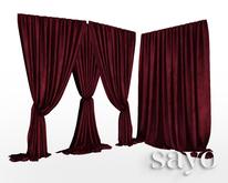 SAYO - Velvet Drapes - Crimson