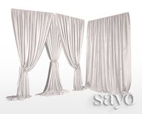 SAYO - Velvet Drapes - Blanc