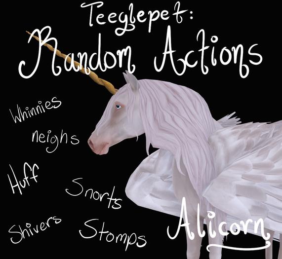 ~Mythril~ Teeglepet: Random Actions: Alicorn