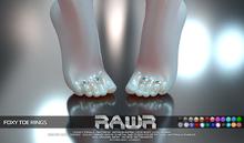 RAWR! Foxy Toe Rings  (add me)