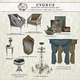 Petite Mort- Cygnus Velvet Drapes Gold
