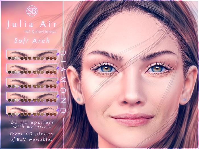 Eyebrows, EvoX AVALON: JuliaAir.SoftArch.DIAMOND