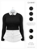 GAWK! .Brenda. Wool Sweater - Black | for Maitreya // Maitreya Petite
