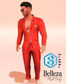 XK Vursachi Calabria Slim Fit Suit Pomegranite