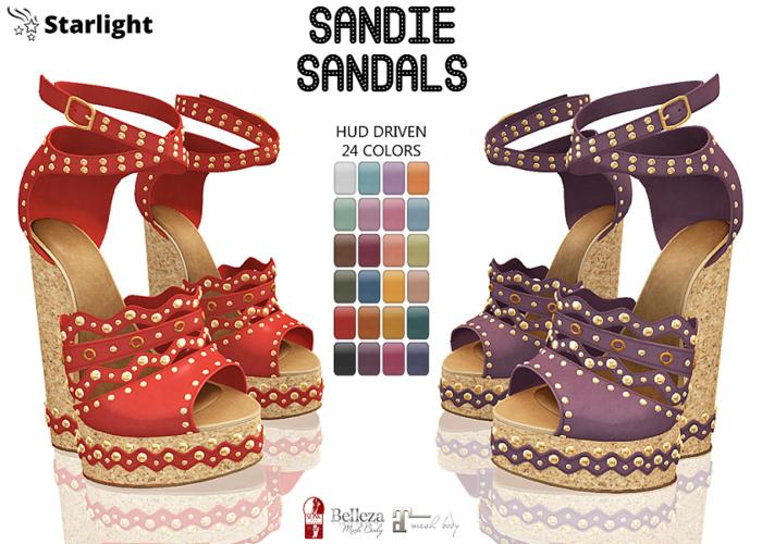 :: SA ::  Sandie - Wedge Sandals with HUD