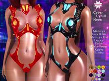 AURORA Cyber Cybill Neon Bodysuit