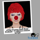 #TS# Funny Doll Hair FeMale - 7 colors e resize script