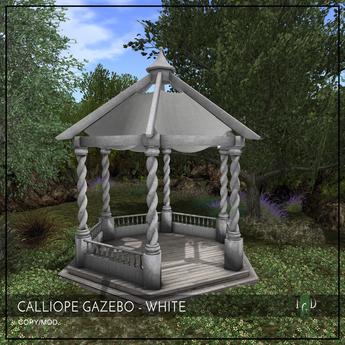 ~The Green Door~ Calliope Gazebo - White