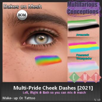[MC]  BOM Multi-Pride Cheek Dashes (wear to unpack)