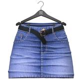 Little Fox - Kelsey jeans skirt // blue