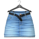 Little Fox - Kelsey jeans skirt // azure