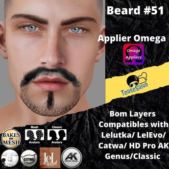 #TS# Beard #51 BOM - Lel Evo/Catwa HD Pro/AK/ Classic