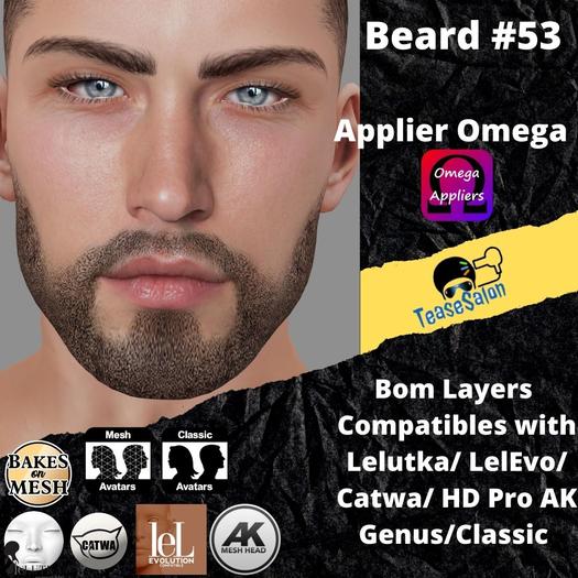 #TS# Beard #53 BOM - Lel Evo/Catwa HD Pro/AK/ Classic