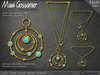 Necklace - Lost Eden Gold Solar Dream With Turquoise Stones