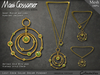 Necklace - Lost Eden Gold Solar Dream With Jade