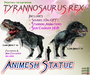TYRANNOSAURUS ~ Animesh Ornamental Statue
