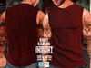[INSIGHT] Sleeveless t-shirt *KARLOS* RED