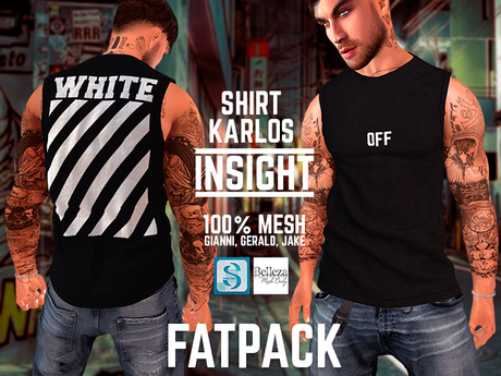 [INSIGHT] Sleeveless t-shirt *KARLOS* FATPACK
