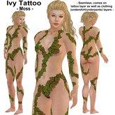 Wunderlich's Ivy Body Tattoo - Moss