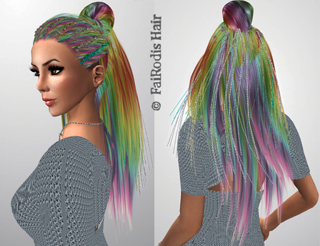FaiRodis Merilyn hair rainbow with flairs decoration  pack