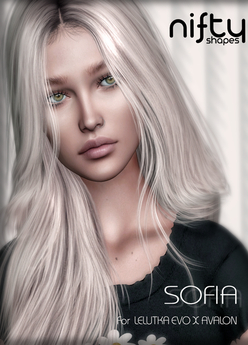 :NiFty: SOFIA shape for Lelutka Evo X Avalon