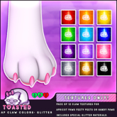 TOASTED // Glitter Claw Textures for Apricot Paws hands & peets