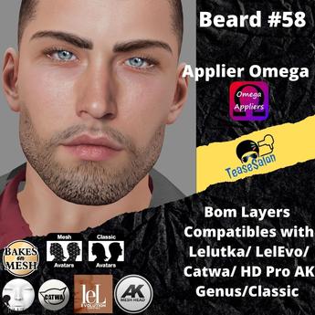 #TS# Beard #58 BOM - Lel Evo/Catwa HD Pro/AK/ Classic