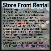 Store Fronts,  Milda's Mall (complimentary Coffee Mug)