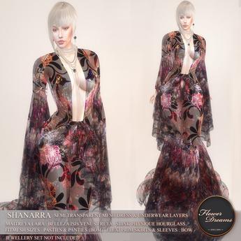 .:FlowerDreams:.Shanarra  Gown - spring roses Demo