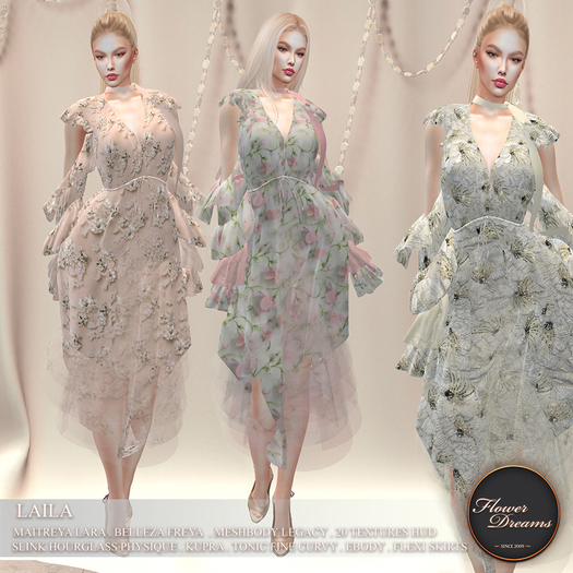 .:FlowerDreams:.Laila Dress Demo
