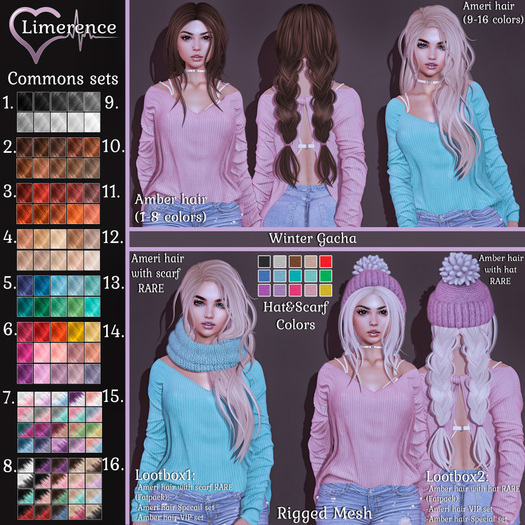 #17 {Limerence} Ameri hair with scarf RARE