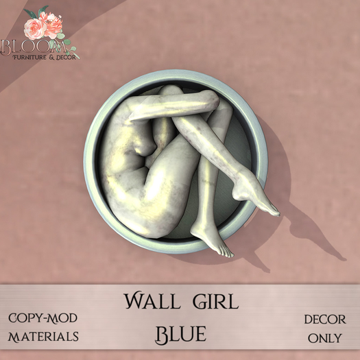 Bloom! - Wall Girl Blue (Add me to Unpack)
